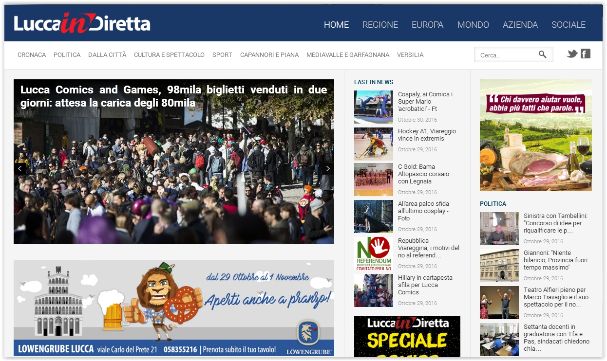 Comunicati Marco Santi Guerrieri su Lucca in diretta