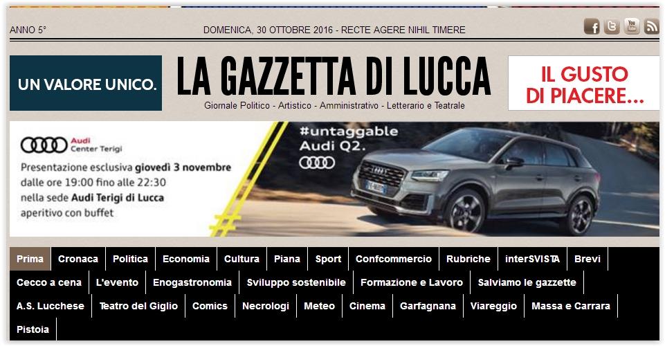 Comunicati Marco Santi Guerrieri su la Gazzetta di Lucca I comunicati di Marco Santi Guerrieri su la Gazzetta di Lucca.