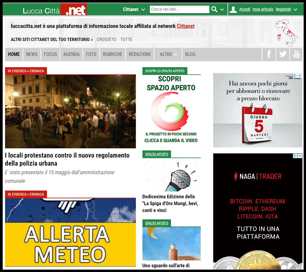 Comunicati Marco Santi Guerrieri su Lucca Città.Net
