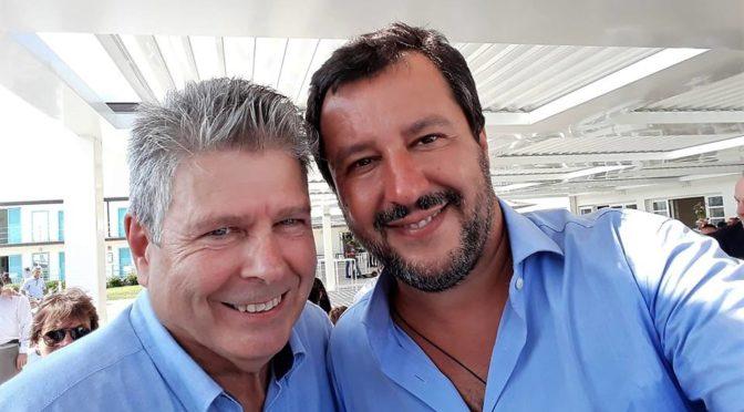 Santi Guerrieri – Piazza del popolo, con Salvini un oceanica emozione